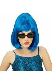 Голубой парик старлетки
