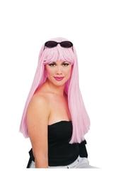 Гламурный светло-розовый парик