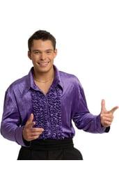 Фиолетовая мужская рубашка Диско