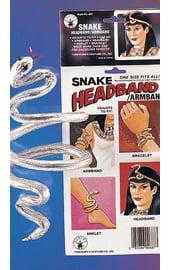 Серебряный браслет Змея