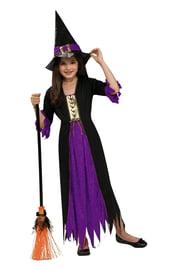 Костюм готической ведьмочки фиолетовый