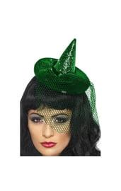 Мини-шляпка ведьмы с вуалью