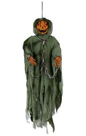 Подвесная фигурка тыквы в зеленом плаще