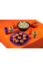 Оранжевая скатерть на Хэллоуин