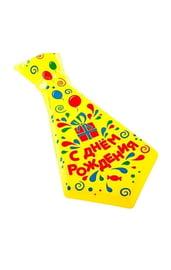 Галстук пластик С Днём рождения