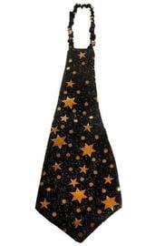 Галстук гигант черный со звездами
