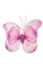 Двойные розовые крылья бабочки