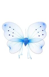 Синие крылья бабочки со стразами