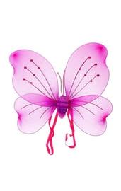 Розовые крылья бабочки со стразами
