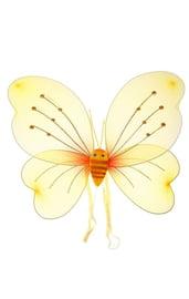 Желтые крылья бабочки со стразами