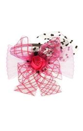 Розовый карнавальный ободок