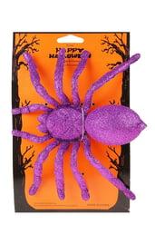 Блестящий фиолетовый паук