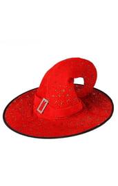 Шляпка ведьмочки красная