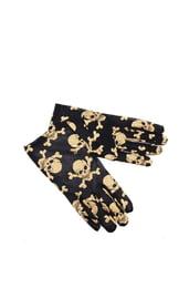 Перчатки с золотистыми черепками