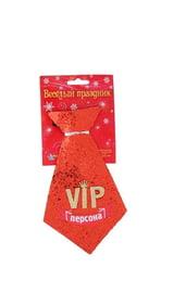 Красный блестящий галстук