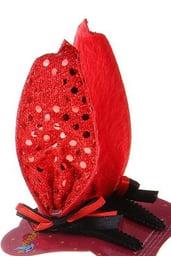 Красный зажим уши с бантом