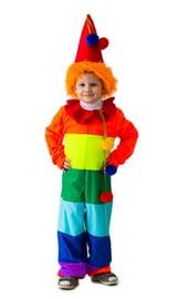 Детский костюм Радужного веселого клоуна
