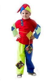 Разноцветный детский костюм Скомороха