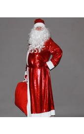 Красный блестящий костюм Деда Мороза