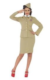 Ретро костюм женщины офицера
