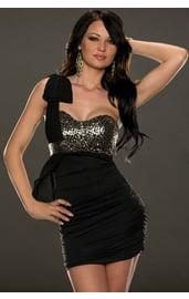 Платье с блестящим верхом