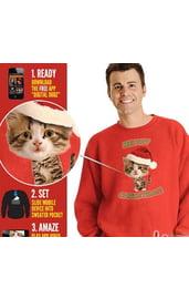Толстовка Рождественский котенок