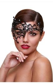Маска со стразами Mask Seductress черная