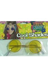 Желтые хипповые очки