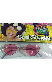 Хипповые очки розовые сердечки