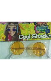 Хипповые очки оранжевые