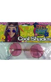 Хипповые розовые очки