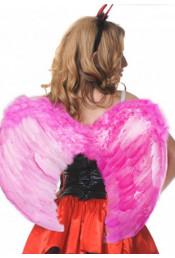 Крылья ангела розовые 57 см
