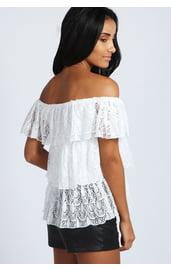 Белый топ-блузка