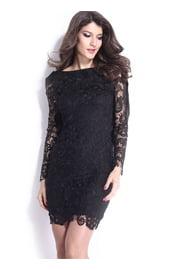 Черное винтажное платье