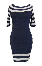 Синее клубное платье