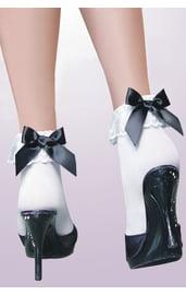 Носки с черным бантом