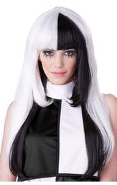 Черно-белый парик 60-х