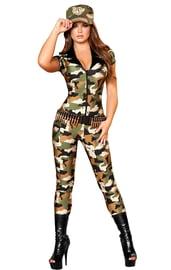 Женский костюм чувственного солдата