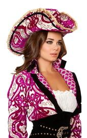Розовая шляпа пиратки