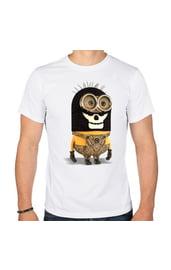 Мужская футболка Миньон-бандит
