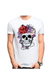 Мужская футболка Glam rock skull
