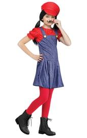 Костюм для девочек Марио красный