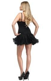 Черное платье с петти юбкой