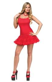 Красное платье с петти юбочкой
