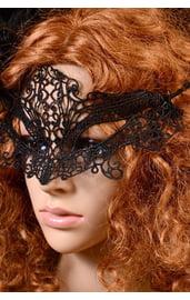 Кружевная черная маска