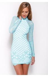 Голубое платье невесты