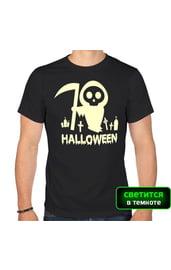 Светящаяся футболка Хэллоуин