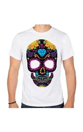 Мужская футболка Цветной череп