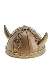 Золотой шлем с рогами
