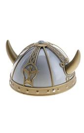 Серебряный шлем с рогами